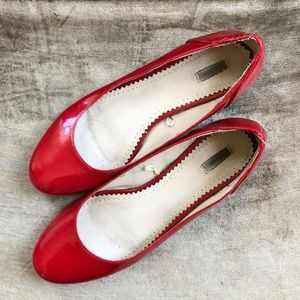 Kimchi Blue ruby red dancing shoes (flats)